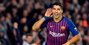 سوارس سومین گلزن برتر تاریخ بارسلونا شد+عکس