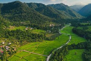 تصویرهوایی از طبیعت بکر روستای سه سار
