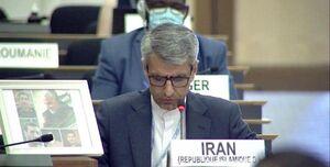 تصویر حاج قاسم سلیمانی در سازمان ملل