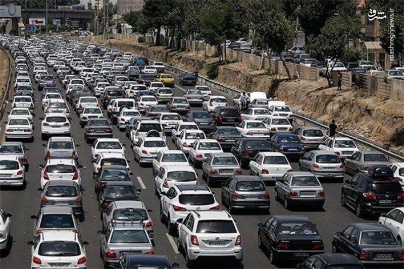 ترافیک پرحجم و نیمه سنگین در محورهای شرقی تهران