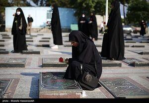 عکس/ گلزار شهدای گرگان در هفته عفاف و حجاب