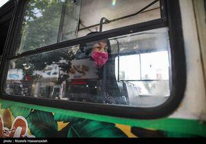 عکس/ استفاده از ماسک در اتوبوس