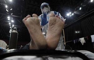 عکس/ ثبت بیشترین آمار ابتلا به کرونا در هند