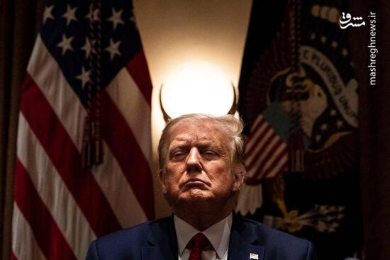 عکس/ ترامپ شاخدار