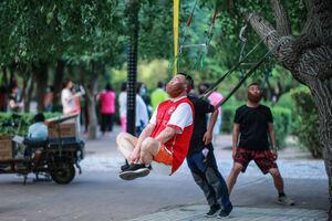 عکس/ تمرین عجیب ورزشی