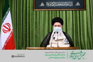 عکس/ ارتباط تصویری نمایندگان مجلس با رهبر انقلاب