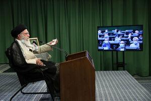 ارتباط تصویری با صحن مجلس با رهبرانقلاب