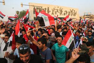 شادی عراقی ها از پیروزی لبنان در جنگ تموز +فیلم