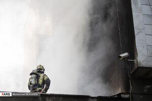 عکس/ آتش سوزی حوالی میدان فردوسی