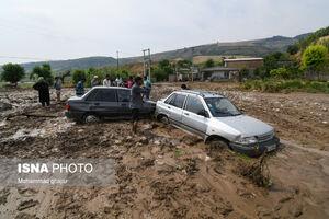 عکس/ جاری شدن سیل در استان گلستان