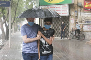 عکس/ رگبار تابستانی باران در تبریز