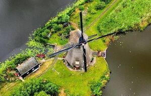 تصاویری از آسیابهای بادی در هلند