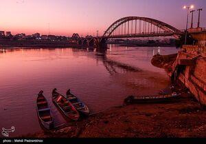 عکس/ شبهای سیاه پل سفید اهواز