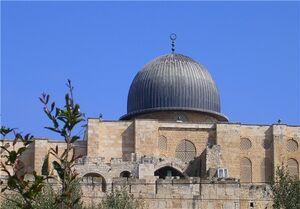 عکس/ ممانعت از ورود فلسطینیان به مسجدالاقصی
