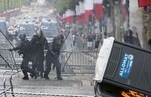تظاهرات ضد دولتی در فرانسه به خشونت کشیده شد +فیلم