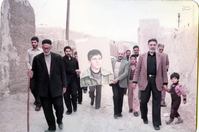 مراسم شهید داوود بصائری در زادگاهش