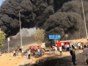 آتش سوزی مهیب خط لوله انتقال نفت در مصر