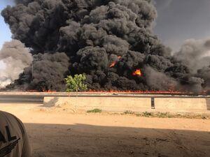 عکس/ آتش سوزی مهیب در مصر