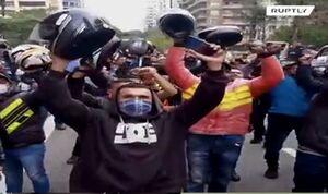 فیلم/ اعتراض موتوسواران برزیلی