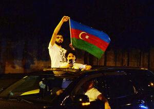 عکس/ تظاهرات شبانه در جمهوری آذربایجان