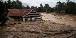 عکس/ سیل مرگبار دراندونزی