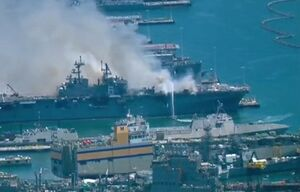 رسانه آمریکایی: مشخص نیست کشتی حادثهدیده آمریکا قابل تعمیر باشد