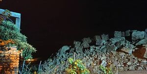 رانش زمین و ریزش کوه در شیراز/ تخلیه ۴۰ منزل مسکونی