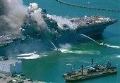 مهار آتش سوزی کشتی جنگی آمریکا پس از چهار روز