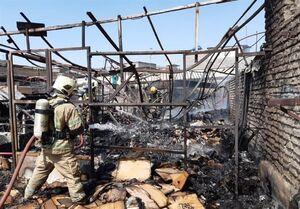 جزئیات آتشسوزی در پاساژ تولید کفش تهران + عکس