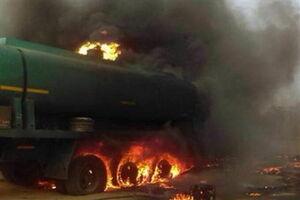 فیلم/ انفجار تریلر حامل بنزین در گلپایگان