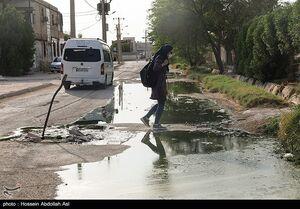عکس/ معضل فاضلاب در مناطق محروم آبادان