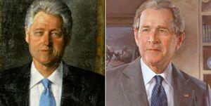 حذف تصاویر «بیل کلینتون» و «جورج بوش» از راهروی ورودی کاخ سفید