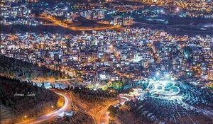 تصویری زیبا از ارتفاعات سنندج