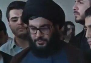 فیلم/ لحظه وداع سید حسن نصرالله با پیکر فرزندش