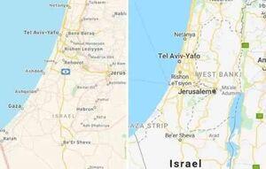گوگل و اپل فلسطین را از نقشهاشان حذف کردند