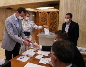عکس/ بشاراسد و همسرش پای صندوق رای