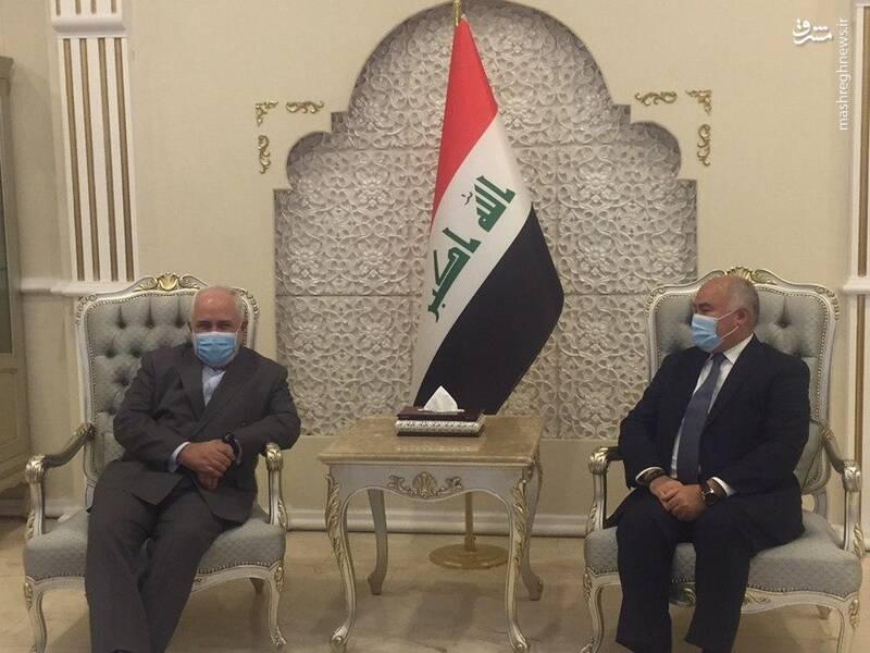 استقبال مسئولان عراقی از وزیر خارجه جمهوری اسلامی ایران