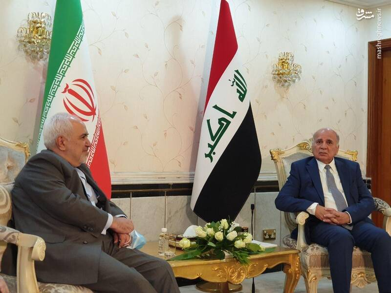 ظریف با همتای عراقی دیدار کرد