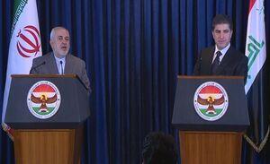 بارزانی در دیدار با ظریف: حمایتهای ایران را فراموش نخواهیم کرد