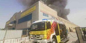 آتشسوزی در منطقه «جبل علی» امارات
