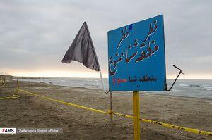 عکس/ ممنوعیت شنا در مازندران