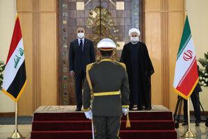 استقبال رسمی رئیس جمهوری اسلامی ایران از نخست وزیر عراق