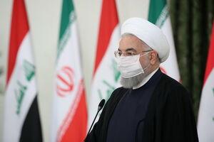 عکس/ نشست خبری مشترک رییس جمهوری اسلامی ایران و نخست وزیر عراق الکاظمی روحانی