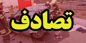 تصادف زنجیره ای ۲۵ خودرو در تهران