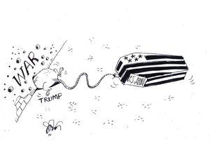 کاریکاتور/ وقتی ترامپ تهدید نظامی میکند!