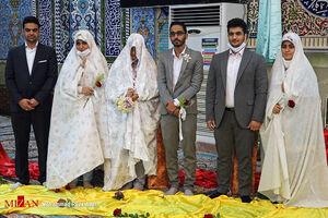 عکس/ سنت ازدواج آسان با رعایت پروتکل بهداشتی