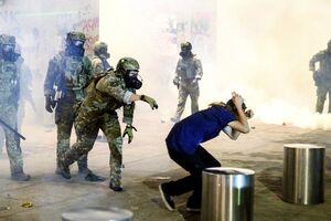 تصاویری از سرکوب معترضان توسط پلیس آمریکا