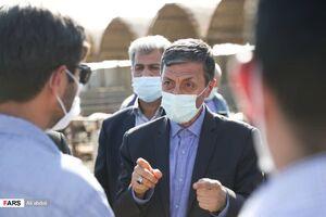 عکس/ بازدید رییس بنیاد مستضعفان انقلاب اسلامی از پروژه های شهرستان زهک
