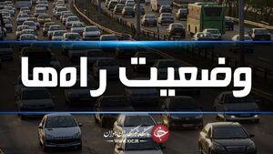 ادامه ترافیک سنگین در جاده چالوس