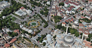 تصاویرهوایی از حضور گسترده مردم در ایاصوفیه